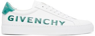 Givenchy White and Green Urban Knots Sneaker