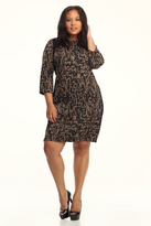 Maggy London Curve Wheat Print Shift Dress