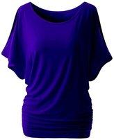 YMING Women Dolman Drape Tunic Plus Size Loose Top T-Shirts L