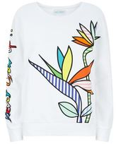 Mira Mikati Birds Of Paradise Appliqué Sweatshirt