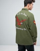 Liquor & Poker Liquor N Poker Military Jacket Badges Khaki