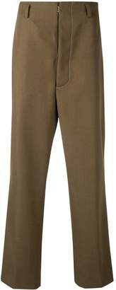 Maison Margiela overstitched high waist trousers