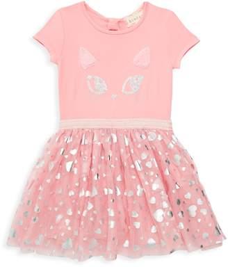 Btween Little Girl's Sequin Cat Fit-&-Flare Dress