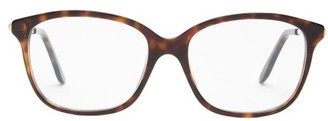 Cartier Trinity Square Metal And Acetate Glasses - Tortoiseshell