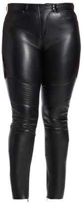Ashley Graham X Marina Rinaldi Faux Leather Moto Pants