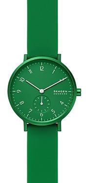 Skagen Aaren Kulr Silicone Strap Watch, 36mm