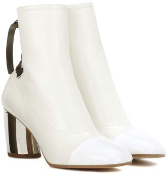 Proenza Schouler Glossed-leather ankle boots