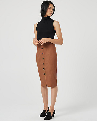 Le Château Jersey Knit Mock Neck Dress