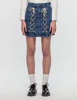 Sjyp Eyelet String Skirt