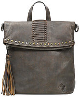 Patricia Nash Washed Denim Collection Luzille Tasseled Studded Convertible Tote