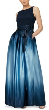 SL Fashions Petite Ombre-Skirt Gown