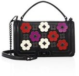 Rebecca Minkoff Love Floral-Applique Leather Crossbody Bag