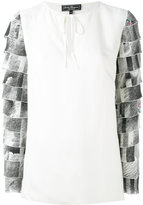 Salvatore Ferragamo tiered sleeve blouse - women - Cellulose/Silk - 40