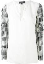 Salvatore Ferragamo tiered sleeve blouse - women - Silk/Cellulose - 40