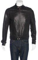 Just Cavalli Embroidered Leather Jacket
