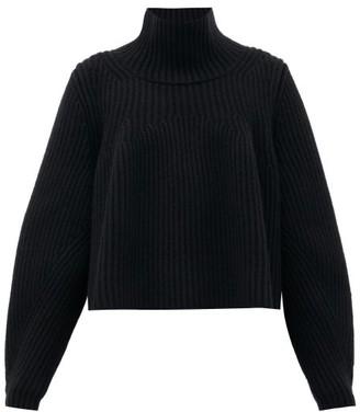 KHAITE Denney Roll-neck Cashmere Sweater - Black