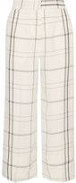 Protagonist Checked Twill Wide-leg Pants - Ivory