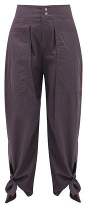 Isabel Marant Gavio Cotton-canvas High-rise Trousers - Dark Navy