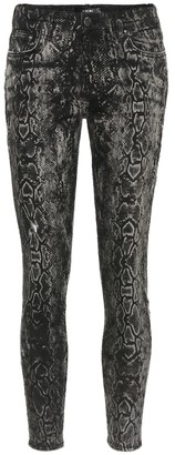 Amiri Stack snake-print skinny jeans