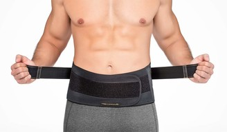 Copper Fit Men's Rapid Relief Back Support Brace with Hot/Cold Therapy