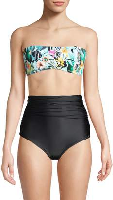 Nanette Lepore Swim Floral-Print Bikini Top