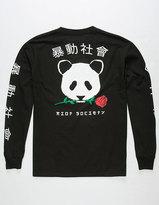 Riot Society Rose Panda Mens T-Shirt
