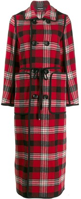 DSQUARED2 Long Checked Coat