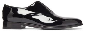Santoni Moore Patent-leather Oxford Shoes - Mens - Black