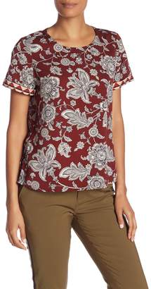 Scotch & Soda Printed Short Sleeve Top