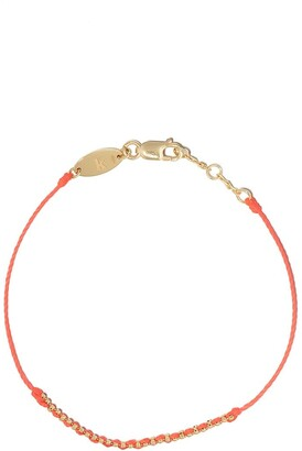 Redline 18kt yellow gold Eclipse thread bracelet