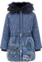Monsoon London Bubble Hem Coat