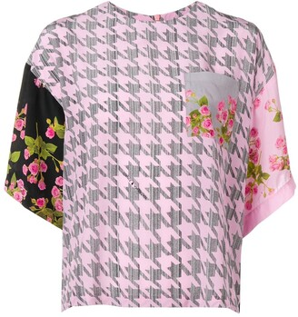 Natasha Zinko printed oversized blouse