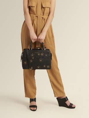 DKNY Rina Embellished Crosshatch Leather Tote