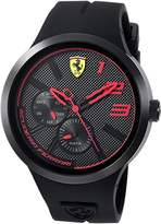Ferrari Scuderia Men's 'FXX' Quartz Resin and Silicone Casual Watch, Color:Black (Model: 0830394)