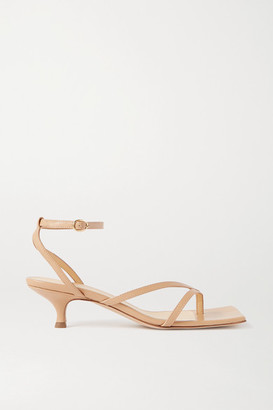 A.W.A.K.E. Mode Delta Low Leather Sandals - Neutral