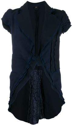 Comme Des Garçons Pre-Owned 1990s Layered Frilled Short-Sleeved Jacket