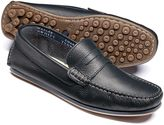 Navy Wanson Loafers Size 8