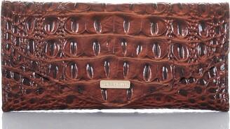 Brahmin Veronica Melbourne Croc Embossed Leather Envelope Wallet