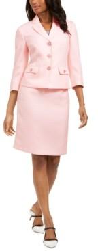 Le Suit 3/4-Sleeve Skirt Suit