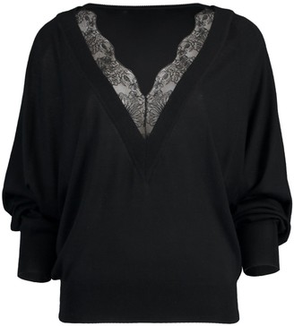 Chloé Black Lace Trim Sweater