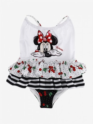 MonnaLisa Swimsuit With Mickey Mouse Print