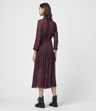 AllSaints Eley Plume Dress
