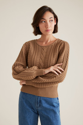 Seed Heritage Cable Crop Knit