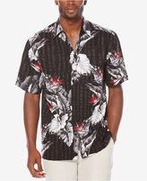 Cubavera Men's Big and Tall Tropical Short-Sleeve Shirt