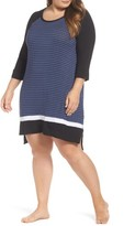 DKNY Plus Size Women's Stripe Sleepshirt