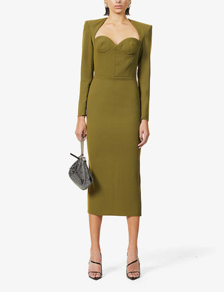 Alex Perry Amber long-sleeved woven maxi dress