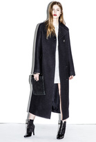 3.1 Phillip Lim Long Two-Button Car Coat with Marrow Edge Detail