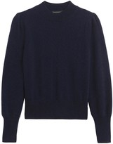 Banana Republic Cashmere Cropped Puff-Sleeve Sweater