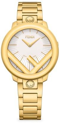 Fendi Timepieces Run Away Yellow Gold Bracelet Watch