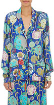 Ungaro Women's Abstract-Floral-Print Blouse-BLUE